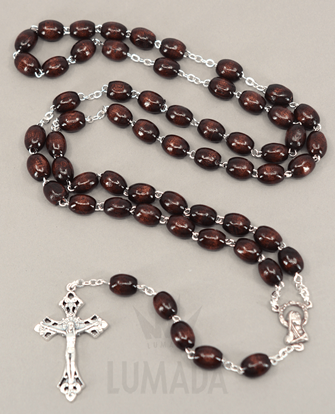 Picture of WOODEN ROSARY BROWN RL106M