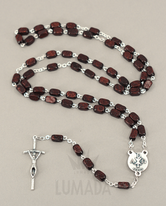 Picture of WOODEN ROSARY BROWN RDS152