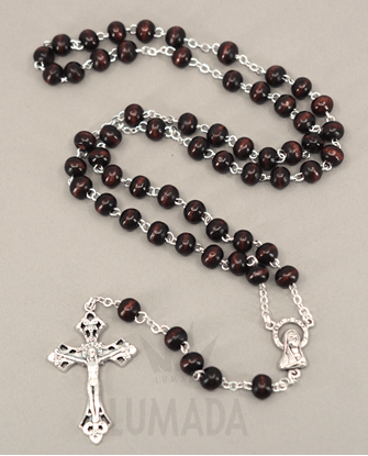 Picture of WOODEN ROSARY BROWN RL107M