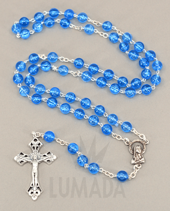 Picture of PLASTIC ROSARY BLUE RP050
