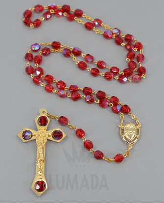 Foto de GLASS ROSARY RED RSS320006